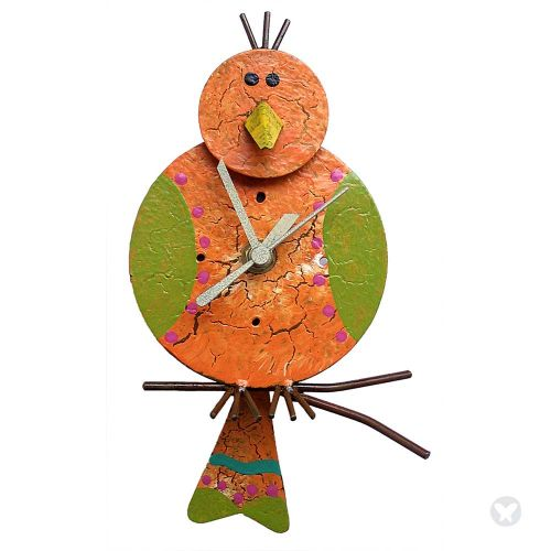 Canario wall clock orange