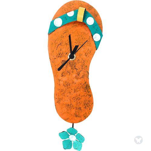 Jazmin sandal clock orange