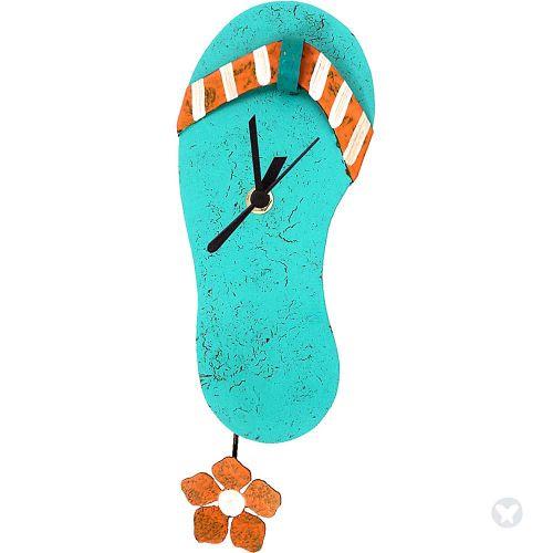 Jazmin sandal clock teal