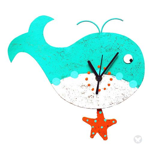 New whale wall clock A