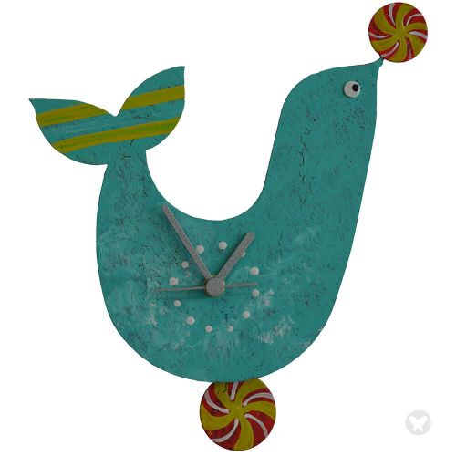 Seal wall clock teal
