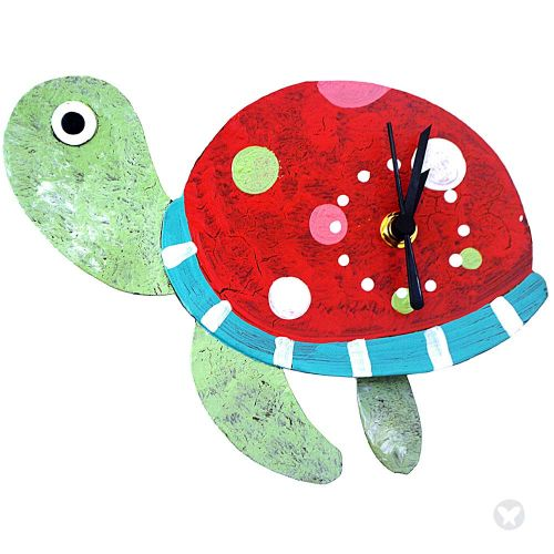 Tourtle wall clock red