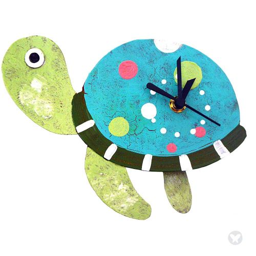 Tourtle wall clock teal